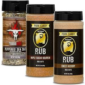 Split Rib/Pork Butt Seasoning Kit | Made in the USA | Premium Rubs for Pork and Beef | Runnin' Wild Foods