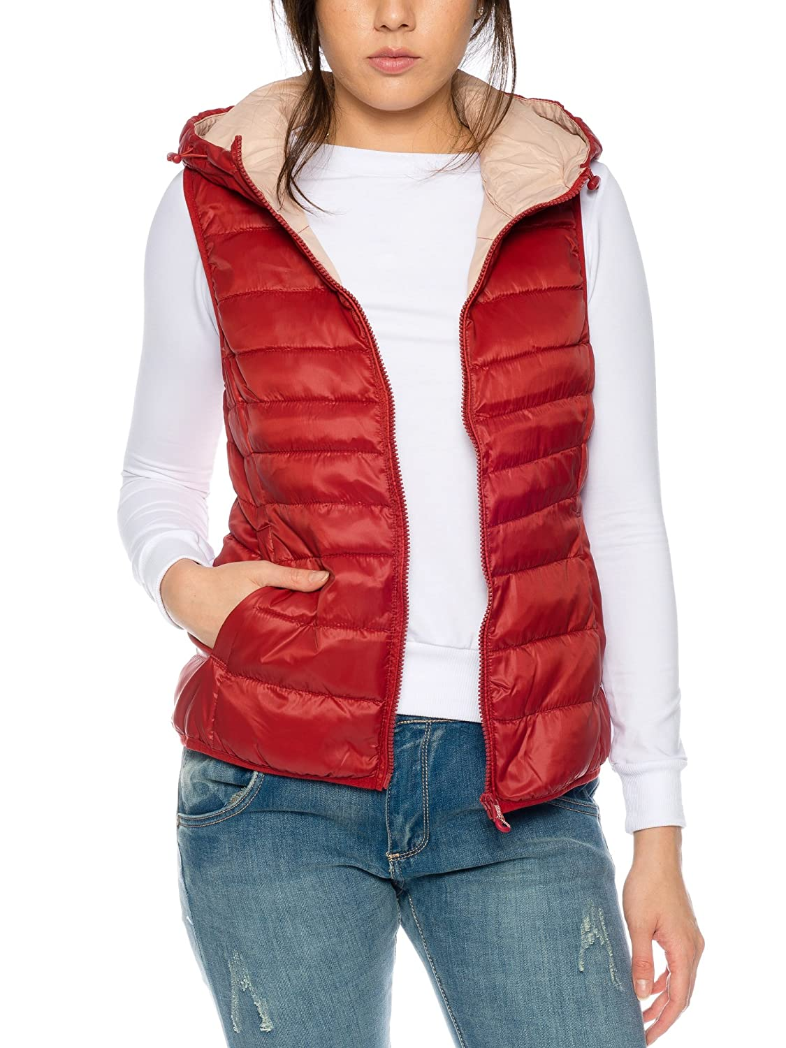 Only Onltahoe AW Quilted Waistcoat CC Otw, Chaleco para Mujer, Gris (Silver Detail:Lining Blackened Pearl), 36 (Talla del Fabricante: Small)