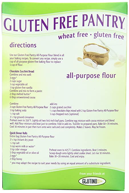 What are some recipes that include gluten-free all-purpose flour?