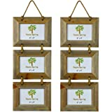 """Nicola Spring Triple Wooden 3 Photo Hanging Picture Frame - 6 x 4"""" - Pack Of 2"""