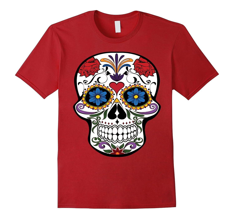 Skull and Roses Halloween T-Shirt-TJ