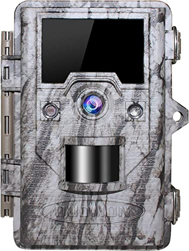 OUDMON Trail Game Camera 16MP 1080p 30fps FHD Waterproof IP67 Wildlife Scouting Hunting Cam with 940nm 48Pcs No Glow IR LEDs Motion Activated Night Vision 2.4 LCD