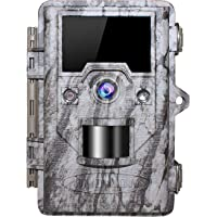 "OUDMON Trail Game Camera 16MP 1080p 30fps FHD IP67 Waterproof Wildlife Scouting Hunting Cam with 940nm 48Pcs No Glow IR LEDs Motion Activated Night Vision 2.4"" LCD"