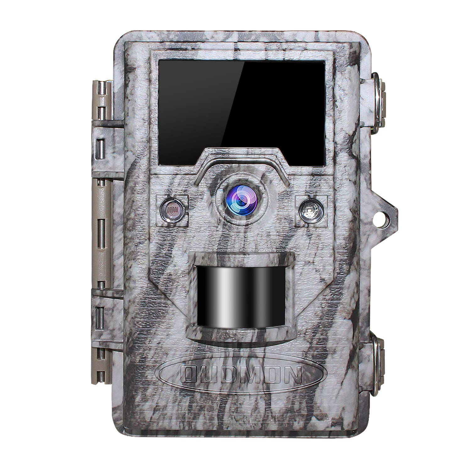 OUDMON Trail Game Camera 16MP 1080p 30fps FHD IP67 Waterproof Wildlife Scouting Hunting Cam with 940nm 48Pcs No Glow IR LEDs Motion Activated Night Vision 2.4 LCD