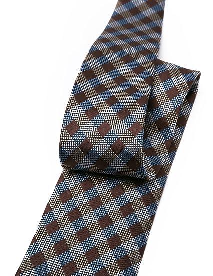 Origin Corbatas Corbata para hombre, cuadros escoceses de seda 100 ...