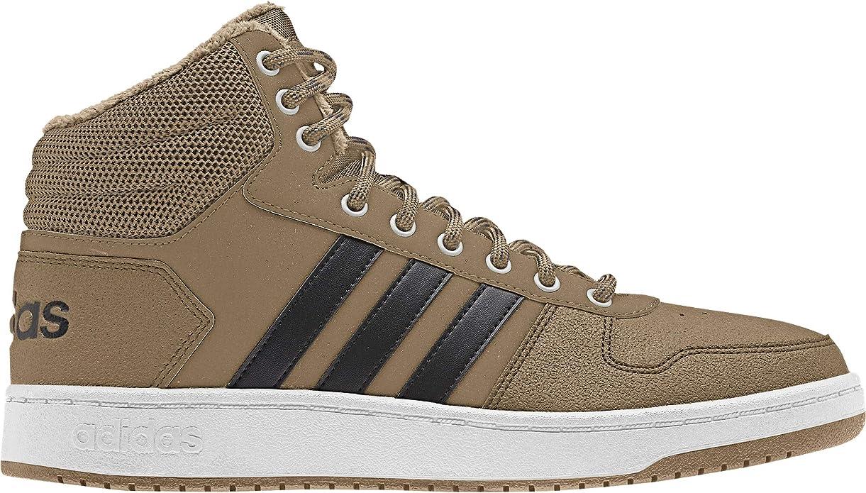 adidas Hoops 2.0 Mid Sneakers Basketball Schuhe Herren Braun