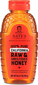 Nature Nate's 100% Pure Raw & Unfiltered Honey, Squeeze Bottle; All-natural