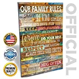 Amazon Price History for:Marla Rae 12-Inch-by-18-Inch Earth Tones Our Family Rules Wall Art Decor