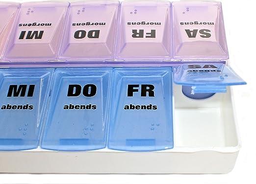 Pillenbox Pillendose Tablettenbox Tablettendose Für 1 Woche ...
