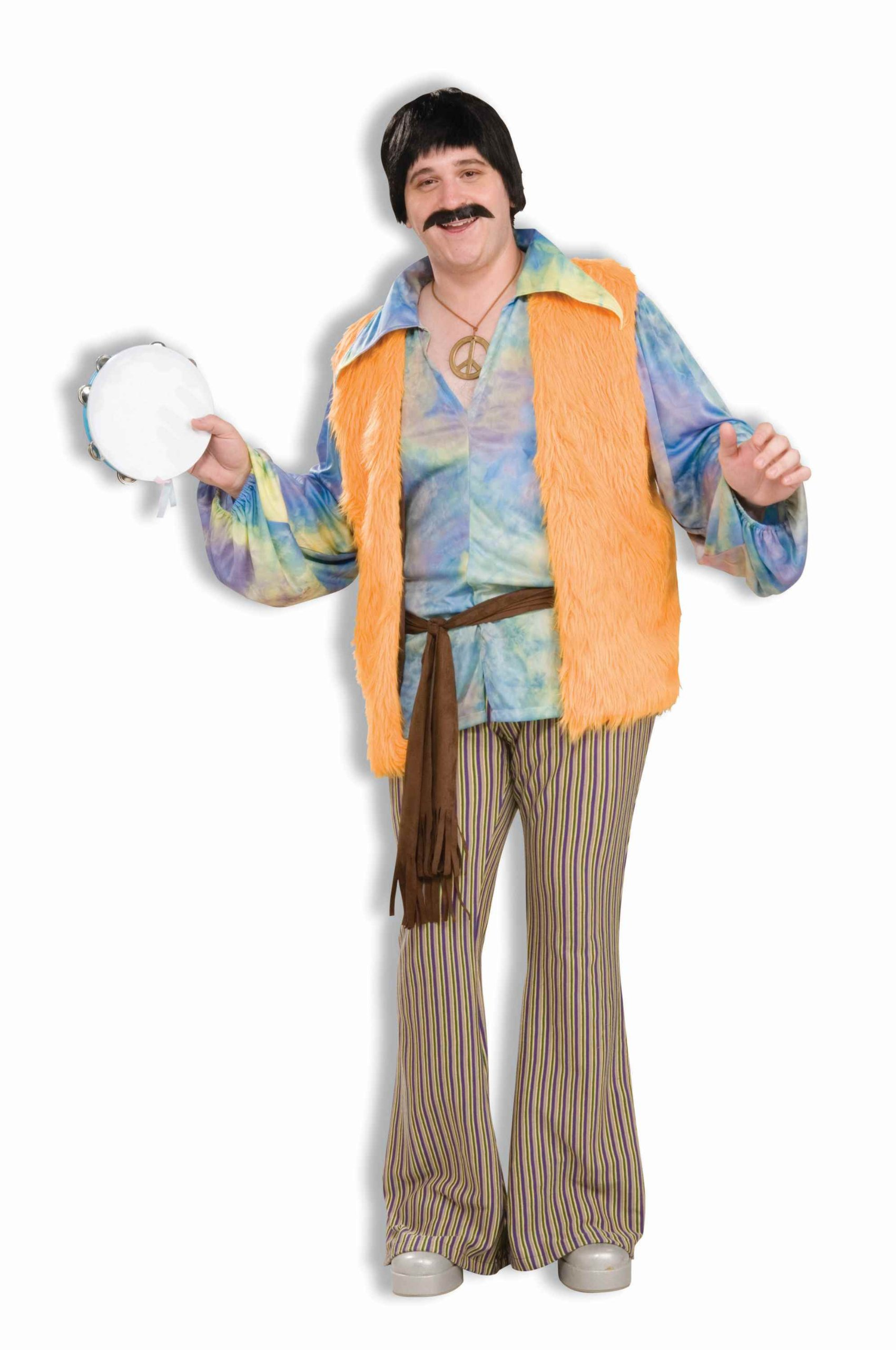 Forum Novelties Men's Plus-Size 60's Mod Revolution Pop Singer Costume, Multi, Plus by Forum Novelties