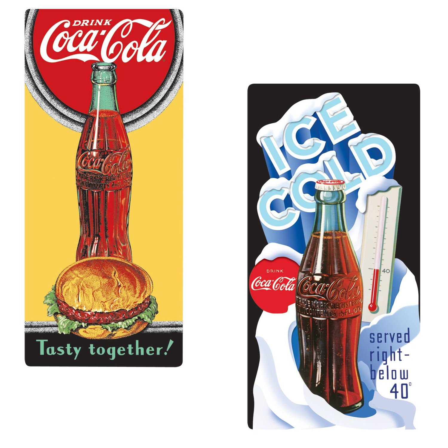 Bundle: dos (2) Coque Coca-Cola Lata Nevera Imanes (# 2180142 ...