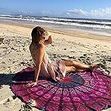 Handicrunch Indian Mandala Round Roundie Beach Throw Tapestry Hippy Boho Gypsy Cotton Tablecloth Beach Towel