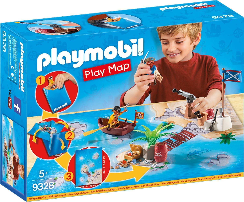 PLAYMOBIL- Play Map Piratas del Caribe Juguete, Multicolor (geobra Brandstätter 9328)