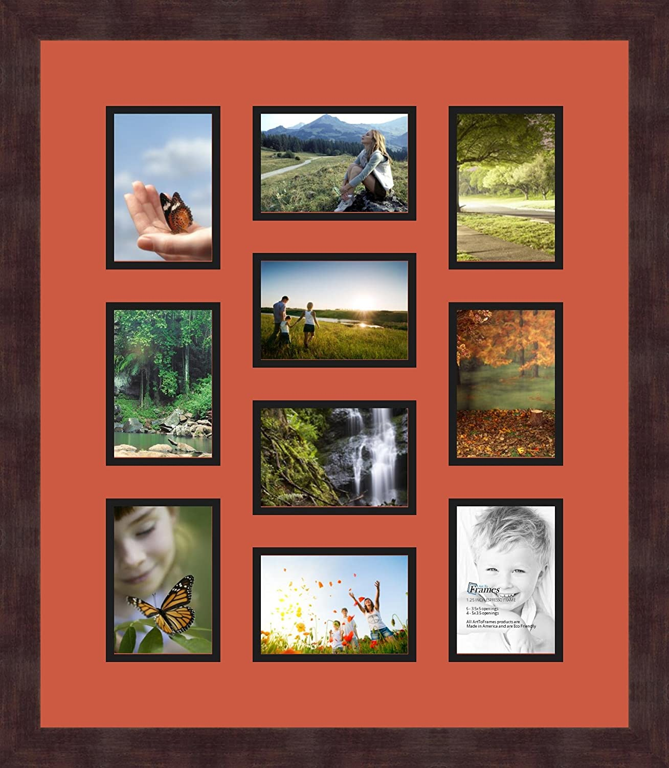 art to frames double multimat 445 736 89 frbw26061 collage frame photo mat double mat with 10 4x5 openings and espresso frame wall tabletop frames ocean club estates