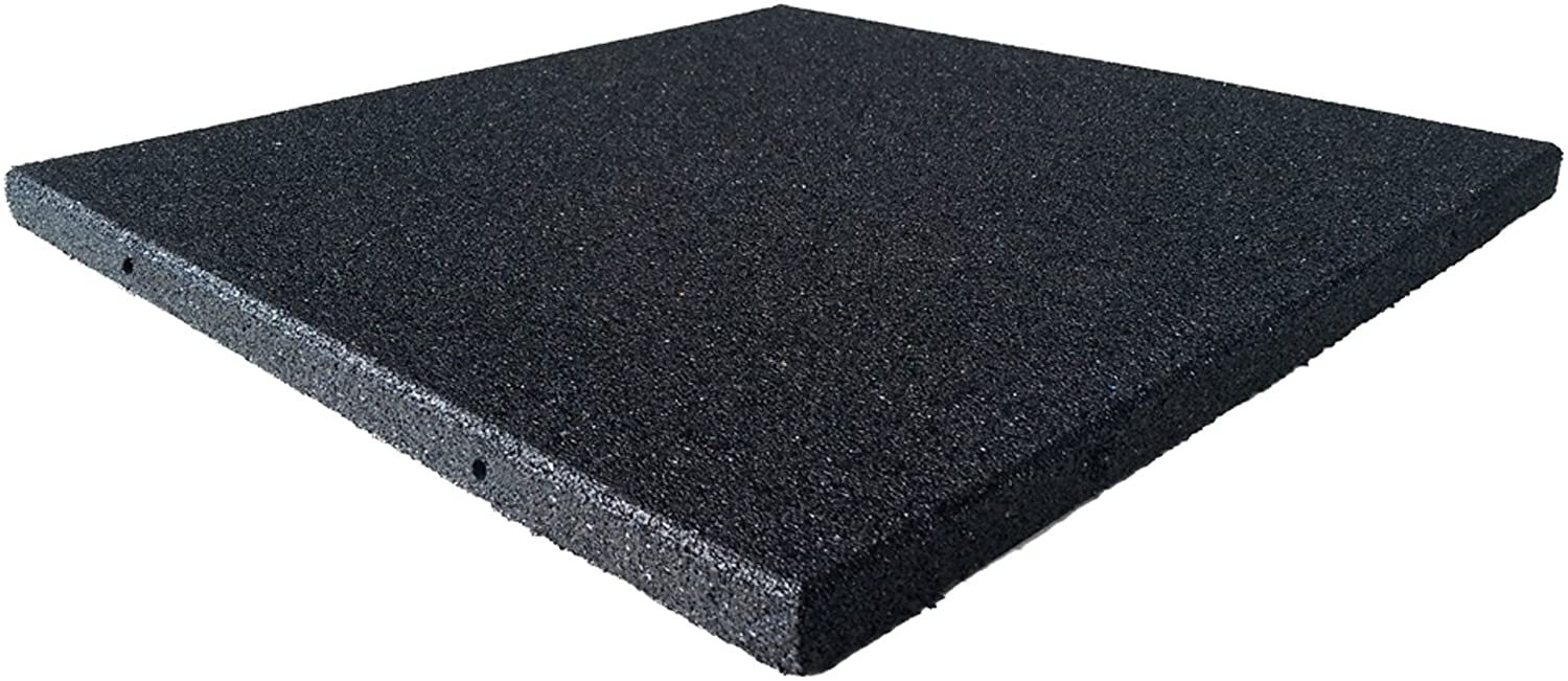 """Rubber-Cal """"Eco-Sport"""" 1-inch Interlocking Tiles, 4 Color Options, 5 Size Options"""