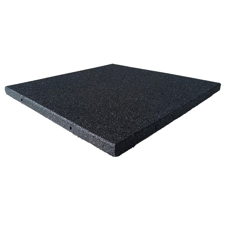 amazon com rubber cal eco sport floor tile pack of 3 coal 1 x