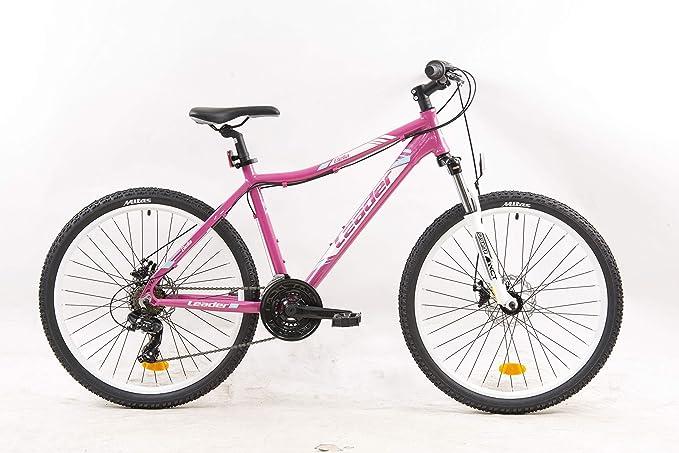 LEADER BELLA Bicicleta de montaña de 26 Pulgadas para Mujer, con ...