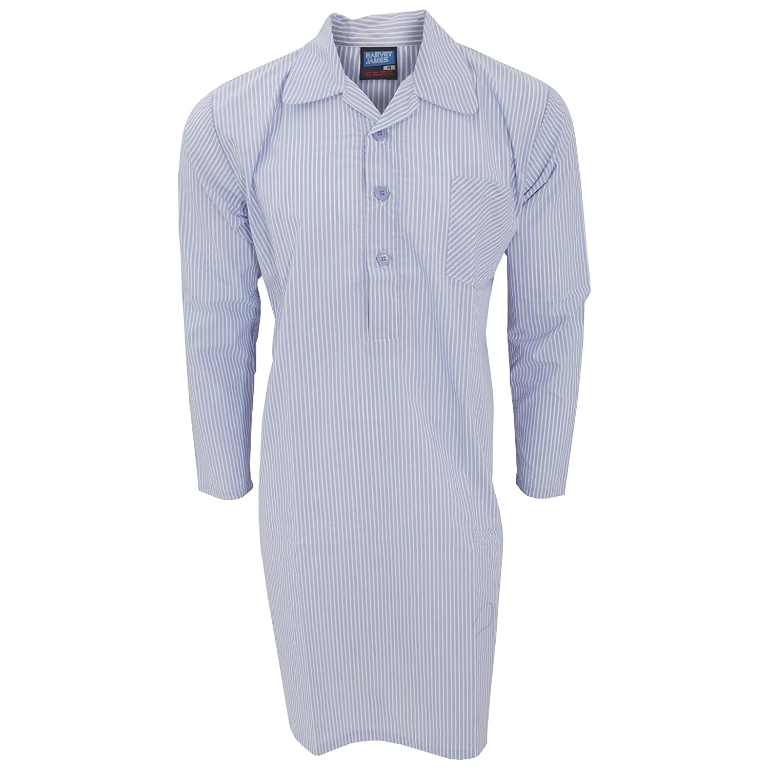 Universal Textiles Mens Long Sleeved Patterned Nightshirt