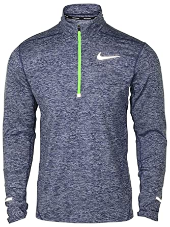 5bd3254f Amazon.com: NIKE Men's Dri-Fit Element 1/2 Zip Running Top-Heather  Navy-Small: Clothing