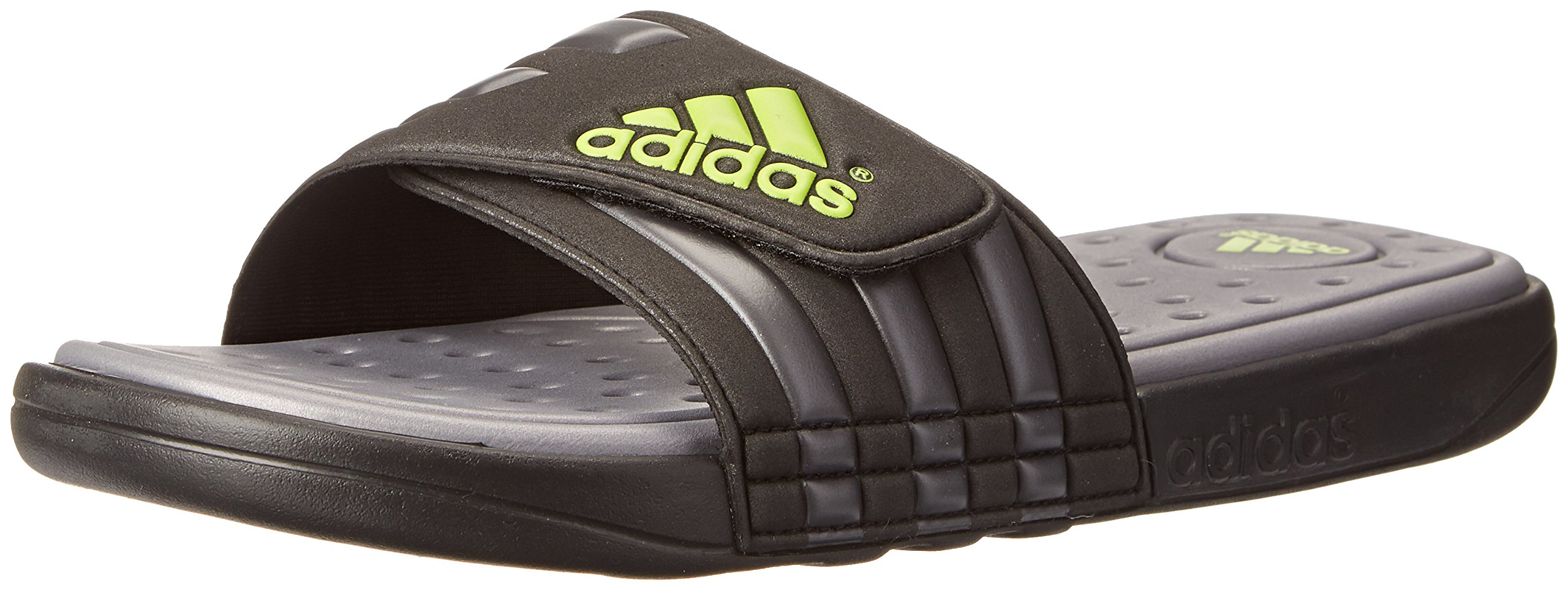 adidas Performance Men's adissage SC Sandal,Black/Grey/Green,12 M US by adidas