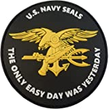 US Marine Navy Seals The Only Easy Day Was Yesterday DEVGRU NSWDG Morale PVC 3D Hook&Loop Écusson Patch