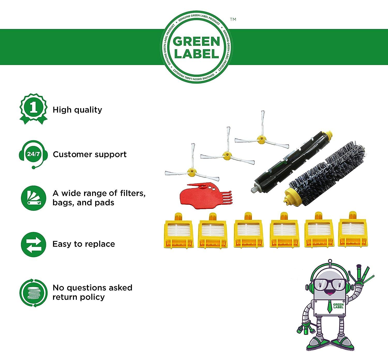 Kit de recambios para iRobot Roomba de la serie 700 Producto genuino de Green Label
