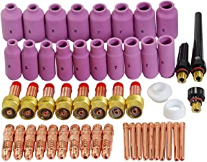 TIG Gas Lens Collet Body Consumables Kit Fit QQ300 PTA DB SR WP 17 18 26 TIG Welding Torch 51pcs