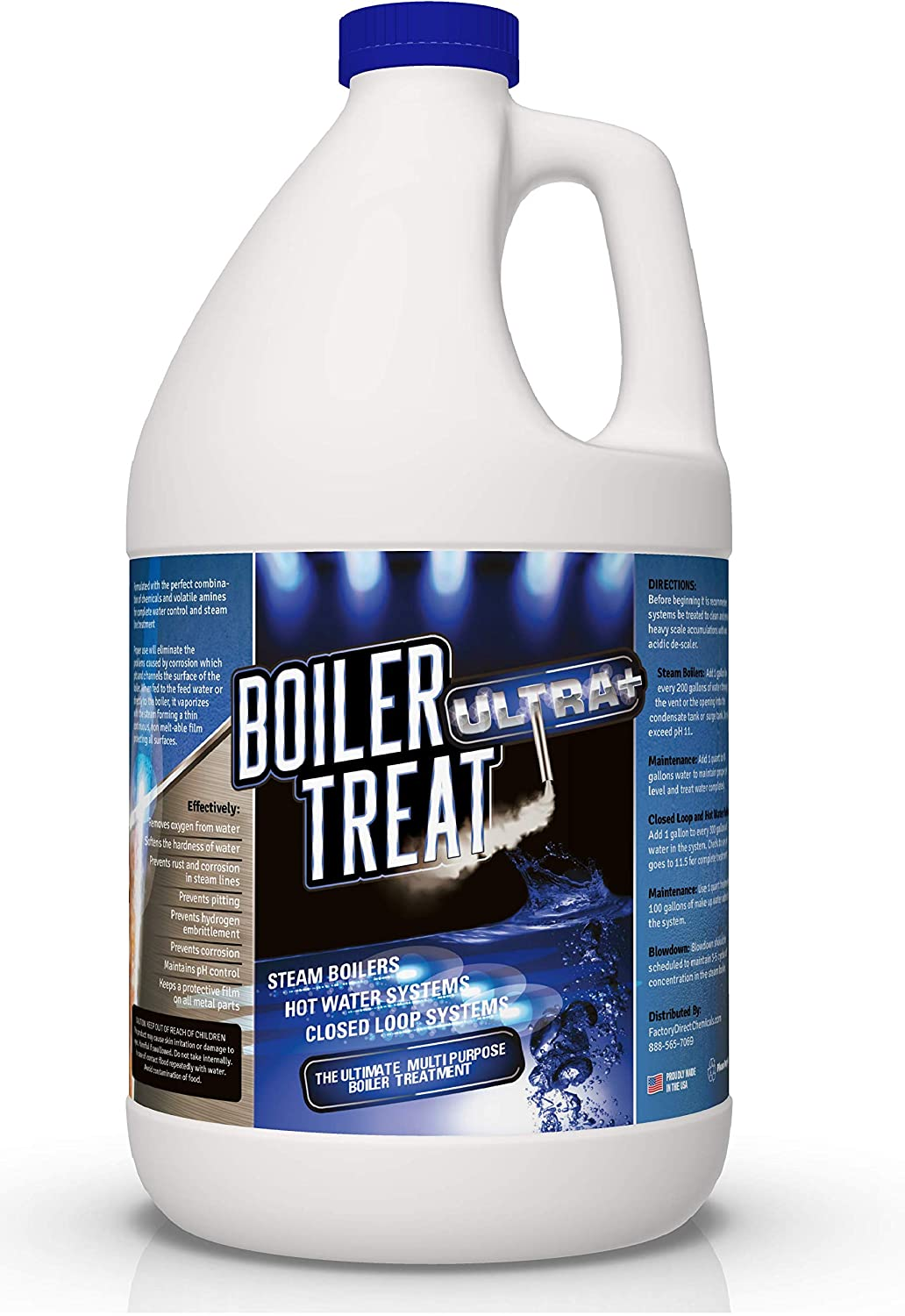 BOILER TREAT ULTRA Multi Purpose Boiler Water Treatment - 1 Gallon | Prevents Scale & Lime in Steam Boilers, Hot Water Systems, Closed Loop Systems & Wood Burning Boilers