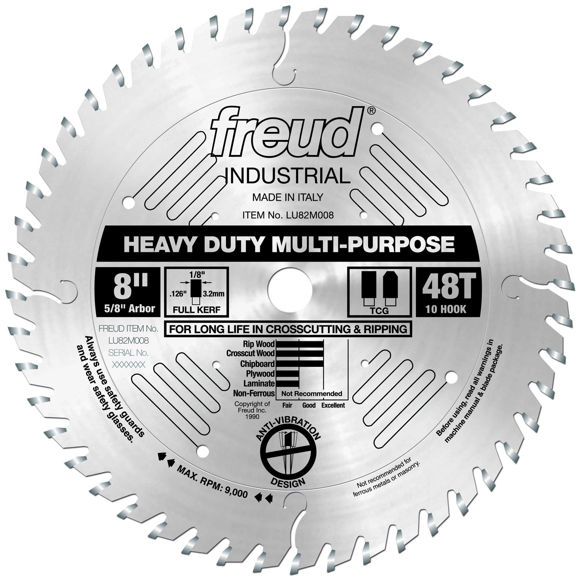 Disco Sierra FREUD 8 x 48T Multiuso de servicio pesado (LU