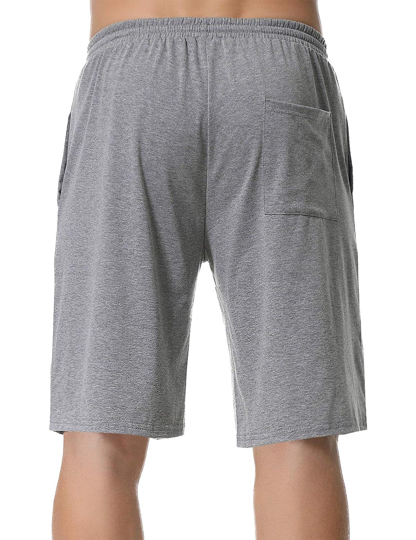 Pantalone Pigiama Uomo Estivo Uomo Pantaloncini per Casa Sportivi Casual Aibrou Pantaloncini da Pigiama Uomo con Anteriore Pulsante Pigiama Pantaloni Corti