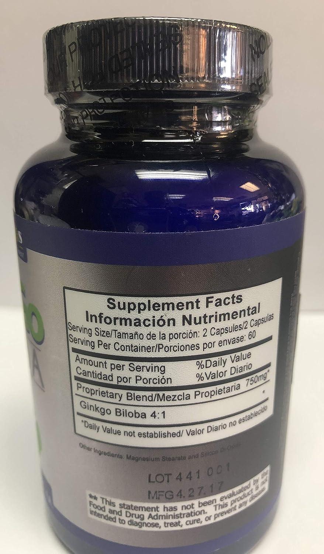 Amazon.com: Ginkgo Biloba 750 mg (60 caps): Health ...