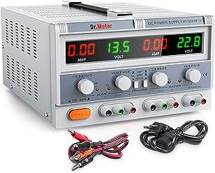 Dr.meter Triple Linear Variable DC Power Supply, Adjustable 30V/5A, Master
