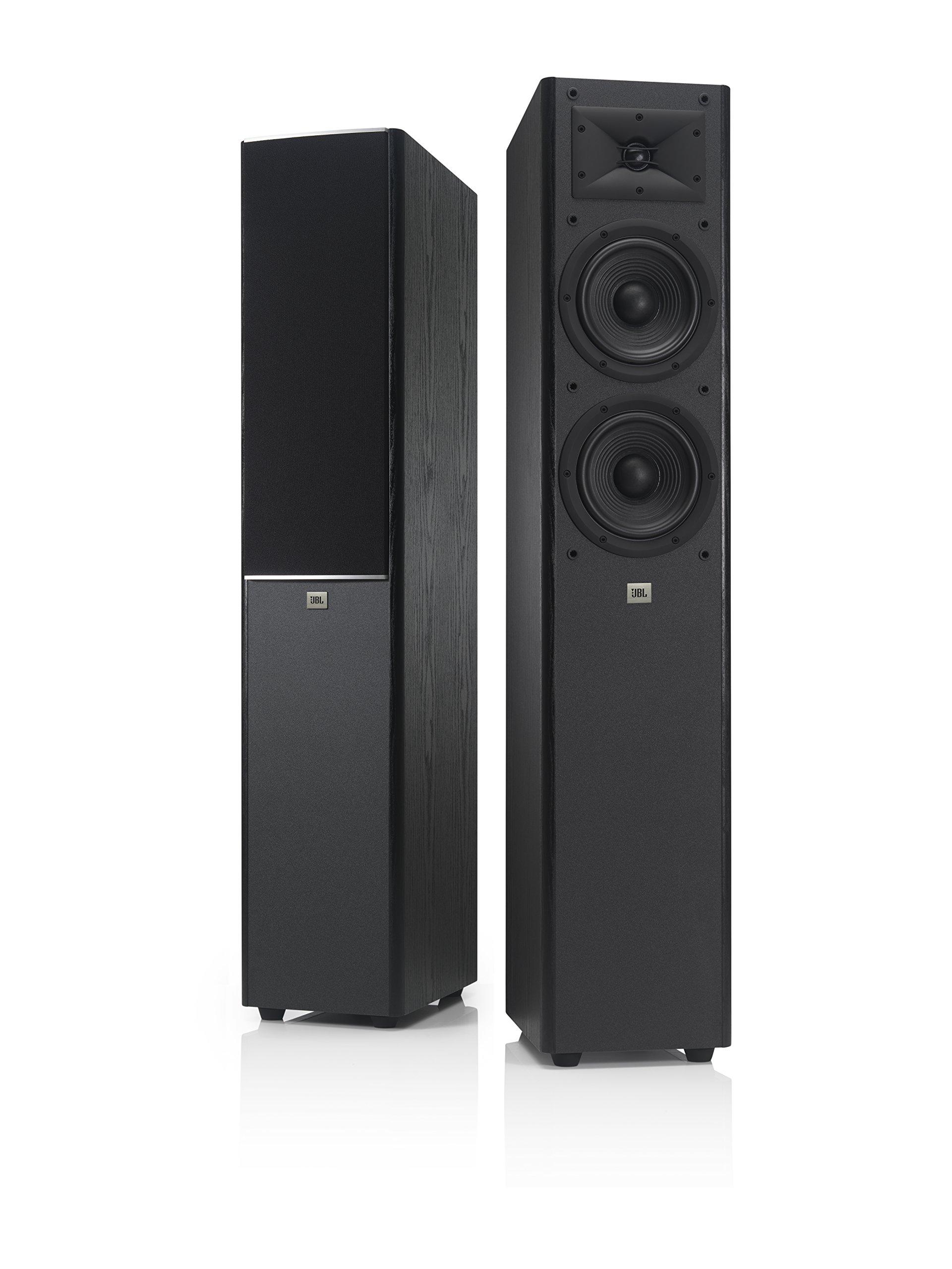 JBL Arena 180 Black 2-Way Dual 7-Inch Floorstanding Loudspeaker (Black) by JBL