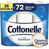 Cottonelle Toilet Paper, 36 Double Rolls, 170 Sheets Per Roll, Ultra ComfortCare, Soft Bath Tissue, Biodegradable, Septic-Safe