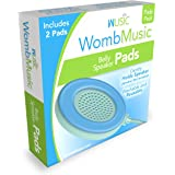 Womb Music Replacement Pads - [Pads Only] - 2 Pack Soft Silicone Gel Pad Set for The Wusic Pregnancy Belly Speaker - Washable, Reusable, Hypoallergenic, Securely Stays in Place
