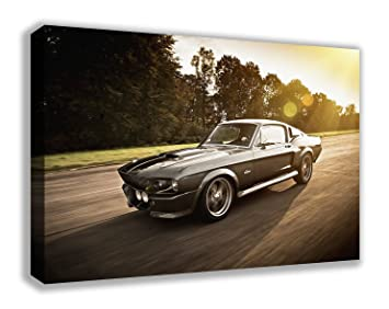 1967 Shelby Gt500 Eleanor >> 1967 Ford Mustang Shelby Gt500 Eleanor Canvas Wall Art 44 X 26