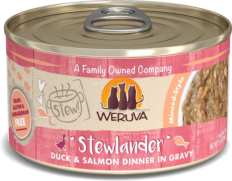Weruva Classic Cat Stews!, Stewlander with Duck & Salmon in Gravy, 2.8oz Can (Pack of 12)