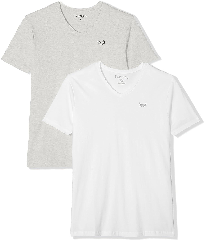 Gift, T-Shirt Homme, Gris (Army Dark Grey Melanged), X-Large (lot DE 2)Kaporal