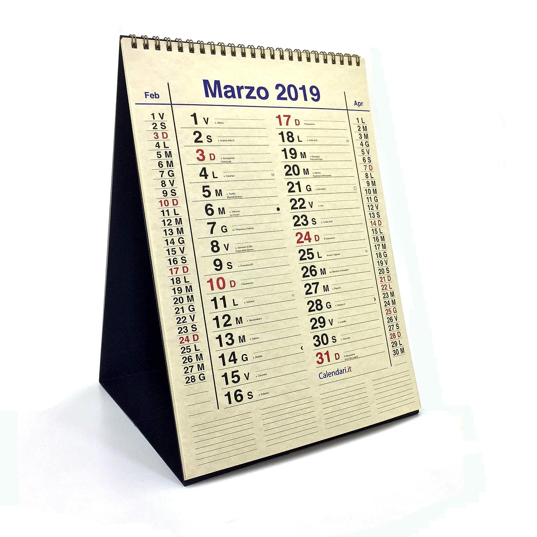 Calendario 2019 OLANDESE DELUXE con carta pregiata da tavolo formato A4 P.ART