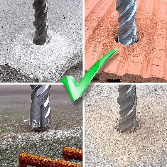 WERHE Profi SDS Plus Betonbohrer 10 x 600 mm Hammerbohrer Steinbohrer Concrete Bohrer