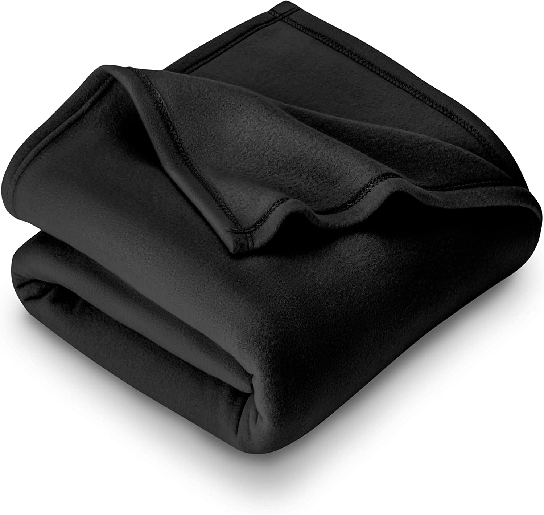 Bare Home Polar Fleece Blanket - Twin/Twin Extra Long - Warm Cozy - Hypoallergenic Premium Poly-Fiber Yarns - Thermal - Lightweight Bed Blanket (Twin/Twin XL, Black)