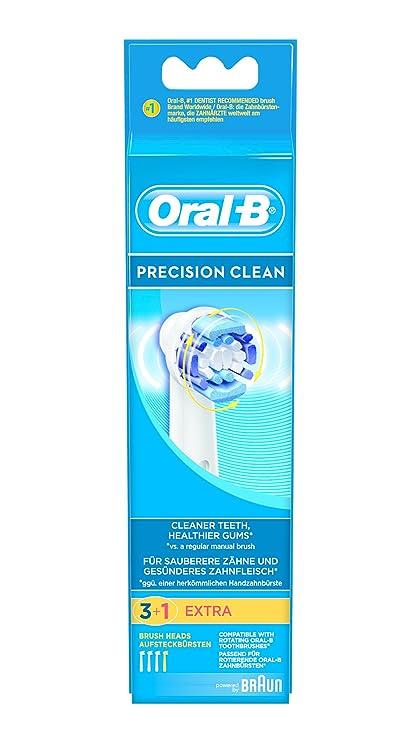 Oral-B - Pack de 3+1 cabezales para cepillos de dientes recargables -