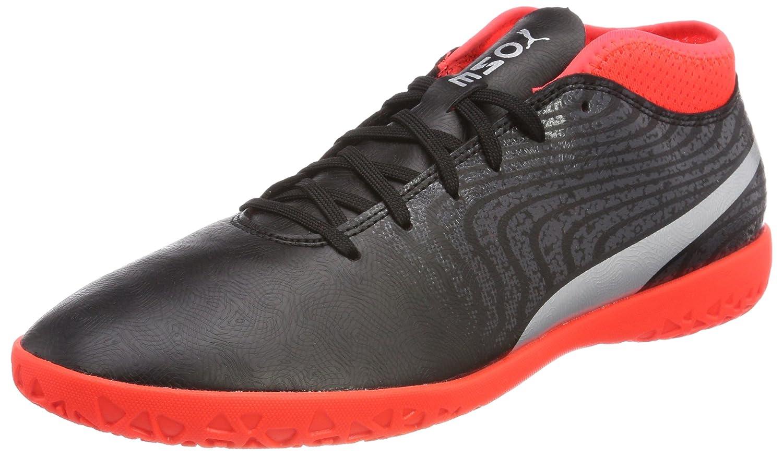 Puma One 18.4 IT, Zapatillas de Fútbol para Hombre 43 EU|Negro (Puma Black-puma Silver-red Blast)