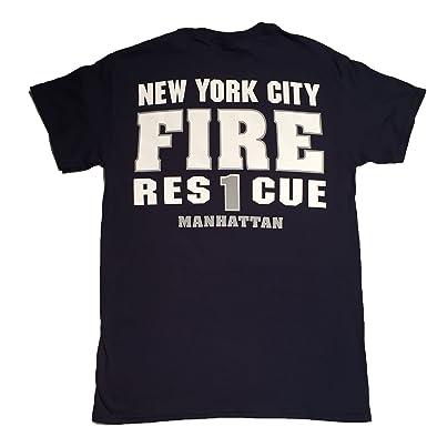 73917c3a1f6 Amazon.com: Fishers Sportswear NYC Rescue 1 T-shirt: Clothing