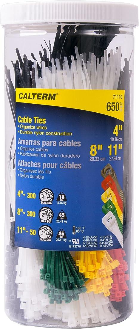 11-In. Blue Standard Duty Cable Tie 100-Pk.