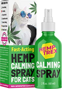 HEMPTREX Calming Spray for Cats and Dogs with Pheromones (60ML) - #1 Natures Miracle - Reduce Anxiety, Relax. Vet Visits, Travel,Thunder Relief and More.