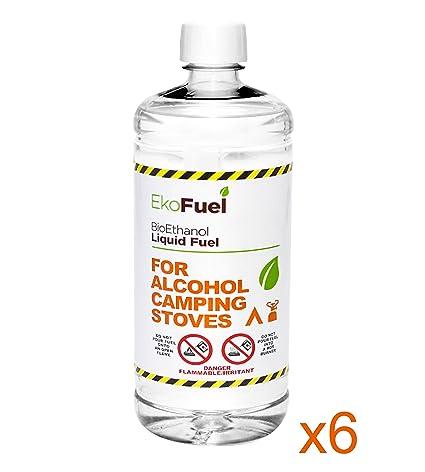 Bioetanol, 6 L para alcohol Camping estufas, Metanol libre. Libre al siguiente día hábil entrega a ...