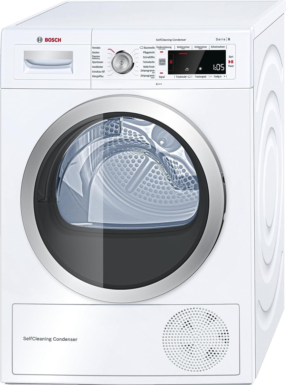 Bosch Serie 8 WTW875W0 Libera installazione Carica frontale 8kg A+++ Bianco asciugatrice