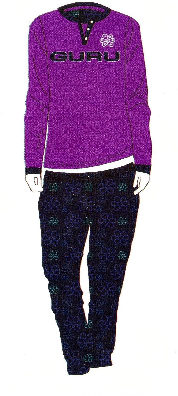 guru pigiama donna caldo cotone interlock manica lunga art.2793