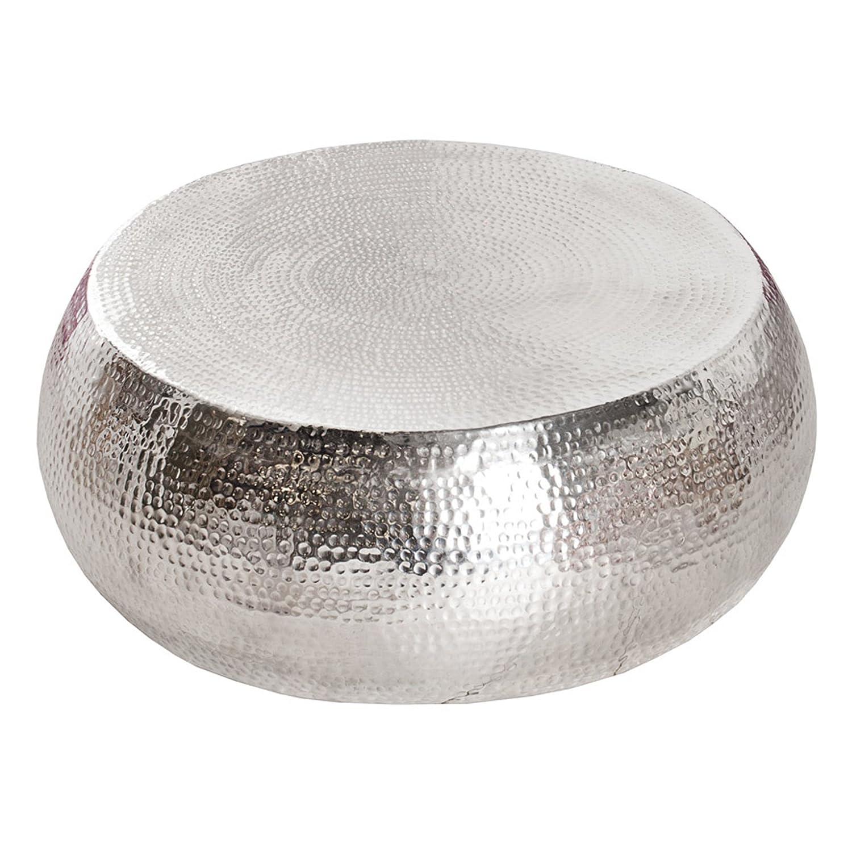 Couchtisch silber rund schn couchtisch rund metall design for Couchtisch silber glas